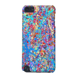 Bright Blue Paint Splatter Abstract iPod Touch 5G Cases