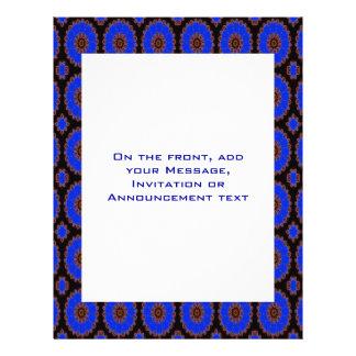 bright blue pattern full color flyer