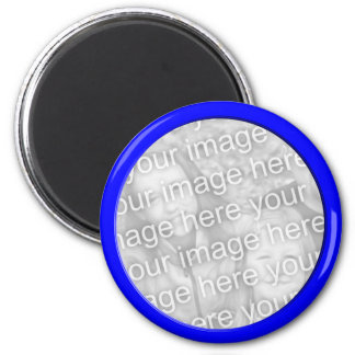 bright blue photo frame magnet