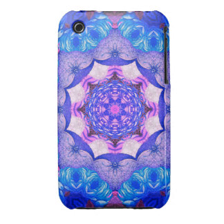 Bright Blue Pink Abstract Pattern iPhone 3 Covers