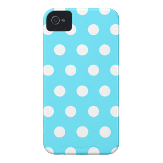Bright Blue Polka Dot iPhone 4 Case