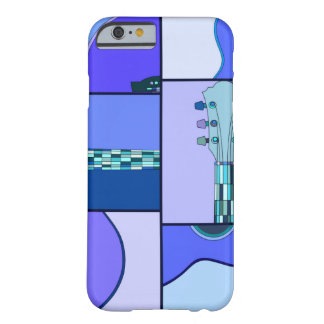 Bright Blue Pop Art Guitar iPhone 6 case Barely There iPhone 6 Case