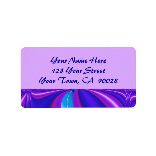 bright blue purple address label