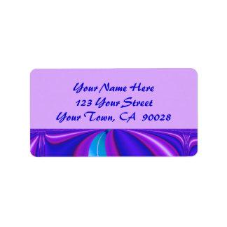 bright blue purple label