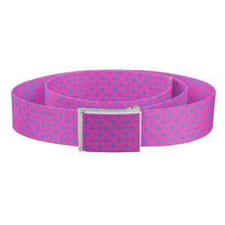 Bright Blue Quirky Polka Dots on Magenta Belt