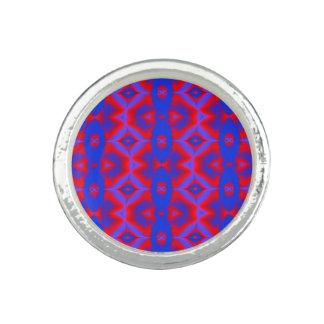 Bright blue red fractal