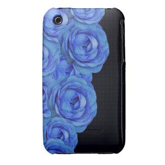 Bright Blue Roses Case-Mate iPhone 3 Cases