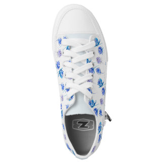 Bright blue roses low tops