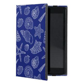 Bright Blue Shell Pattern iPad Mini Case