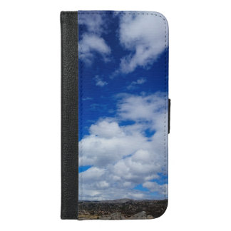 BRIGHT BLUE SKY WITH WHITE CLOUDS iPhone 6/6S PLUS WALLET CASE