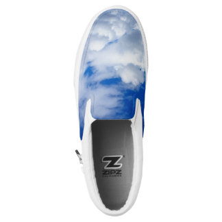 BRIGHT BLUE SKY WITH WHITE CLOUDS Slip-On SHOES