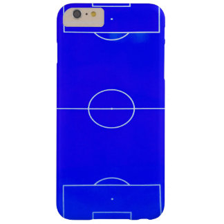 Bright Blue Soccer Field iPhone 6S case