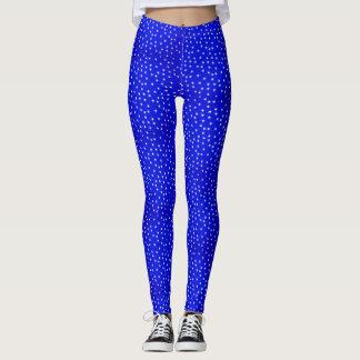 Bright Blue Star Leggings
