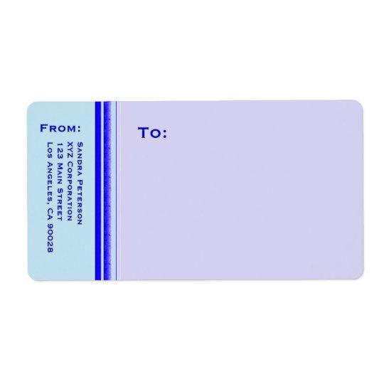 Bright blue stripe on pastel professional business