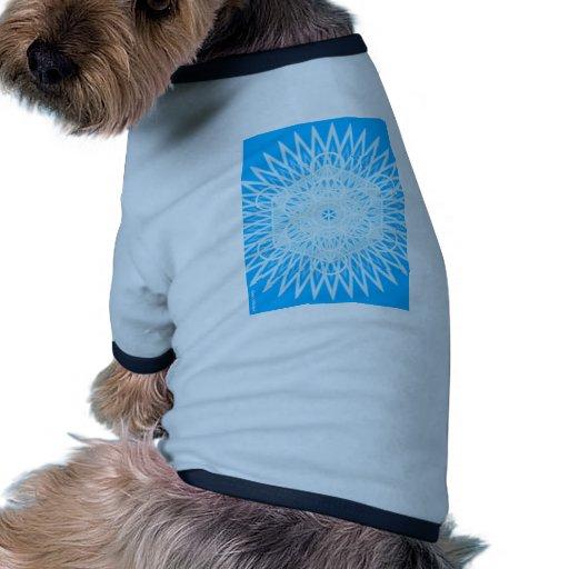 bright blue throat chakra sacred geometry doggie t-shirt