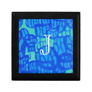 Bright Blue Trinket Box with Option to Personalize