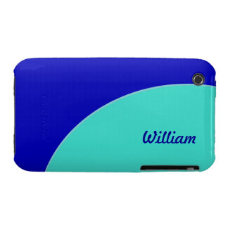 Bright blue turquoise green retro mod iPhone 3 Case-Mate cases