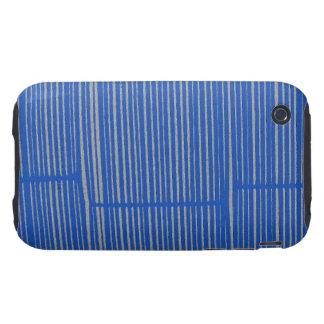 Bright Blue Unique Modern Stripe Pattern Cool Tough iPhone 3 Covers