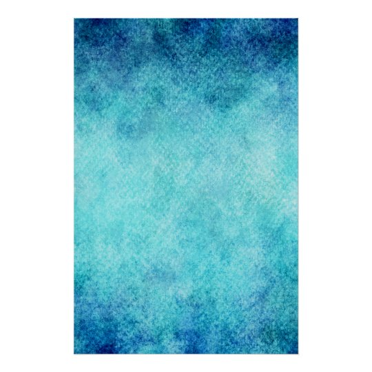 Bright Blue Watercolor Personalised Background Poster