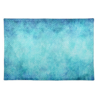 Bright Blue Watercolor Personalized Background Place Mat