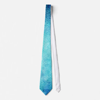 Bright Blue Watercolor Personalized Background Tie