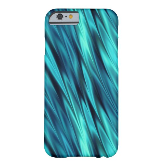 Bright blue wave pattern barely there iPhone 6 case