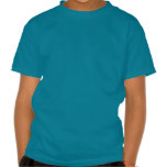 Bright Blue with Red Sports Car Flames Kids Boys Tshirt