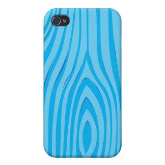 Bright Blue Wood Grain Vector iPhone 4/4S Case