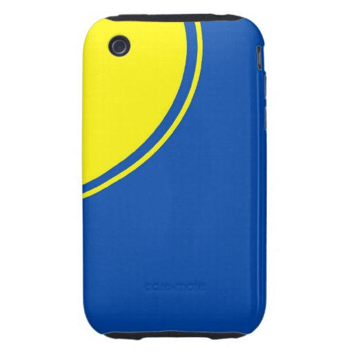 bright blue yellow circle tough iPhone 3 case