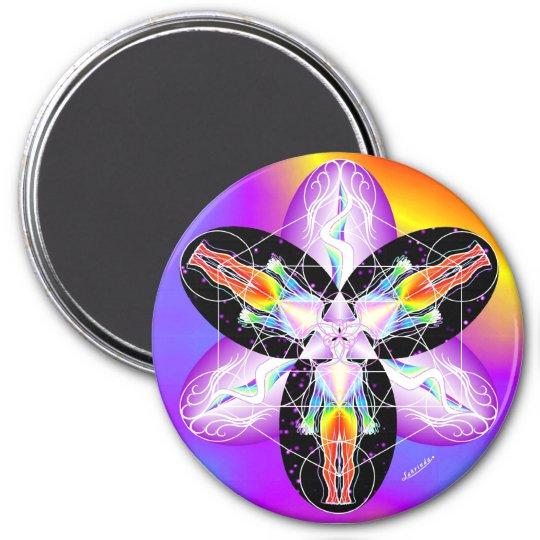 Bright Body 7.5 Cm Round Magnet