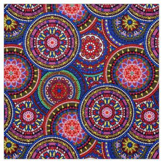 Bright Bohemian Boho Hippy Chic Pattern Fabric
