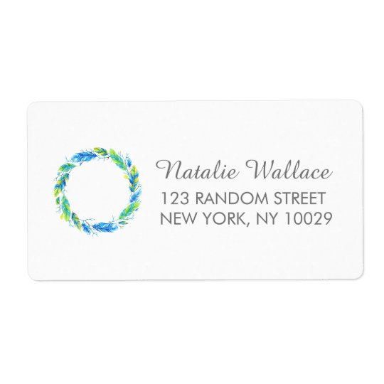 Bright Boho | Modern Wedding Address Labels