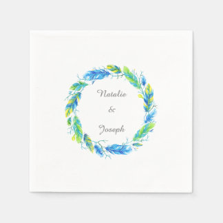 Bright Boho | Modern Wedding Napkins Paper Napkin