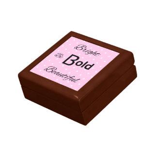 Bright Bold Beautiful inspire pink Small Square Gift Box
