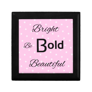 Bright Bold Beautiful inspire pink Small Square Gift Box
