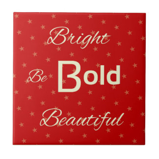 Bright Bold Beautiful inspire red gold Tile