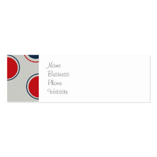 Bright Bold Big Red Blue Polka Dots Pattern Business Cards