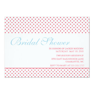 bright & bold bridal shower 13 cm x 18 cm invitation card