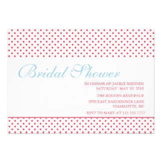 bright bold bridal shower announcements