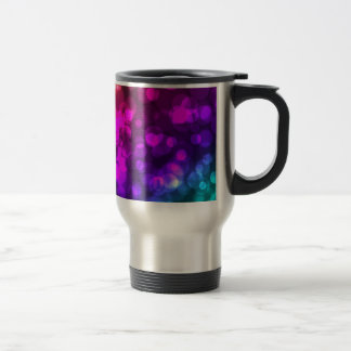 Bright Bold Lights Lighting Colourful Cool Stainless Steel Travel Mug