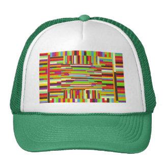 Bright Bold Multi-Colored Stripes Cap