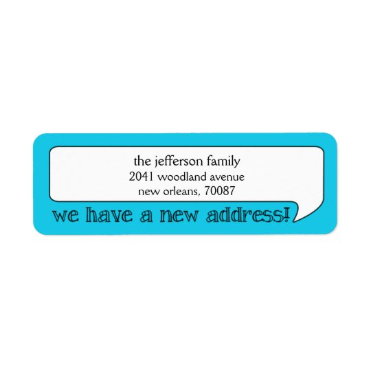 Bright Bubble New Address/Moving Announcement Return Address