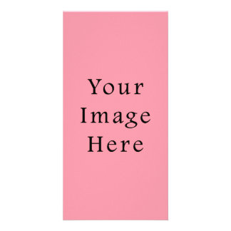 Bright Bubblegum Pink Color Trend Blank Template Photo Card Template