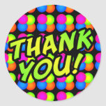 Bright Bubbles Thank You! Round Stickers
