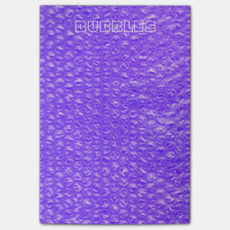 Bright Bubbly Purple Soda Drink Bubble Wrap Post-it Notes