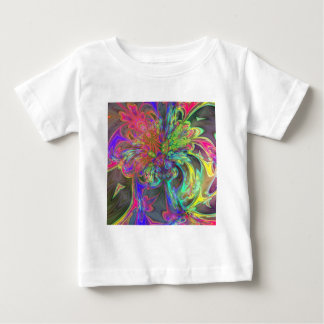 Bright Burst of Color – Salmon & Indigo Deva Baby T-Shirt