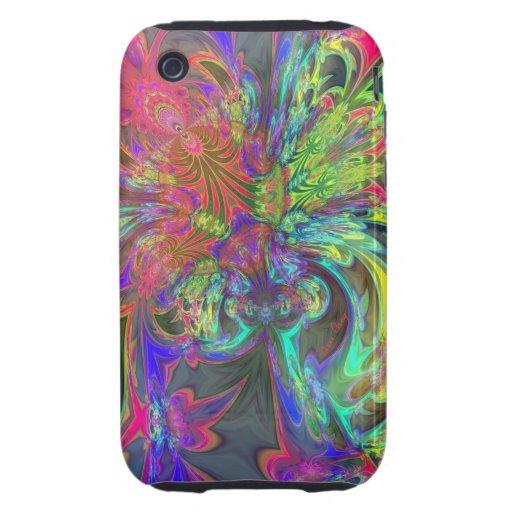 Bright Burst of Color – Salmon & Indigo Deva Tough iPhone 3 Cases