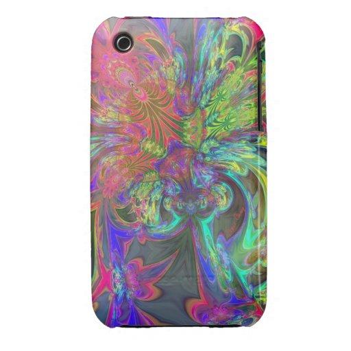 Bright Burst of Color – Salmon & Indigo Deva iPhone 3 Case-Mate Case