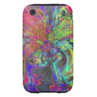 Bright Burst of Color – Salmon Indigo Deva Tough iPhone 3 Case