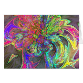 Bright Burst of Color – Salmon & Indigo Deva Greeting Card